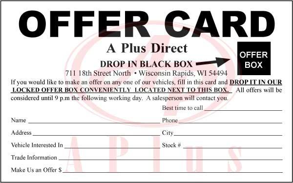 A Plus prints Custom Sales Sheets